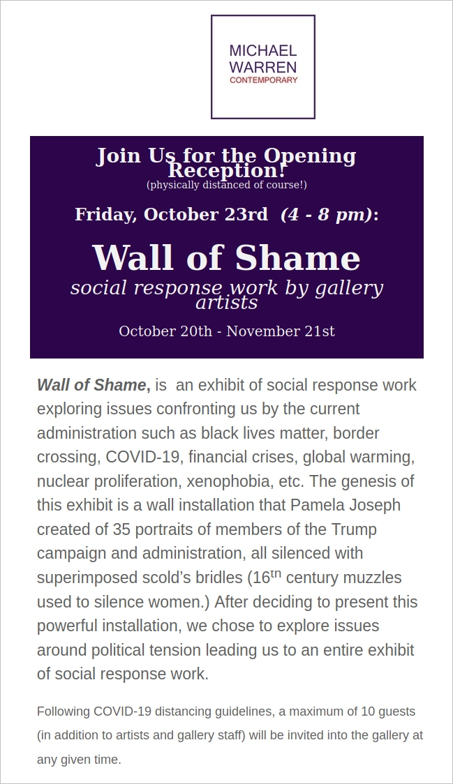 October 2020_Wall of shame exhibition
